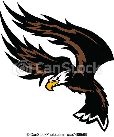 Flying Eagle Wings Mascot Design - csp7486599