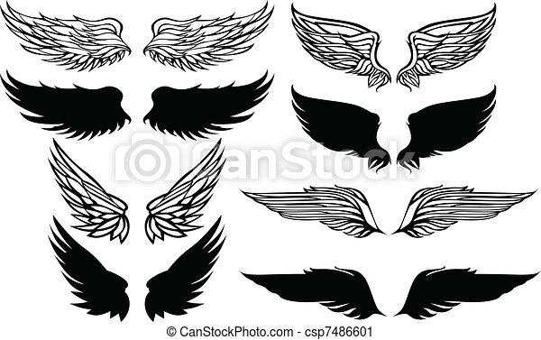 Wings Graphic Vector Set - csp7486601