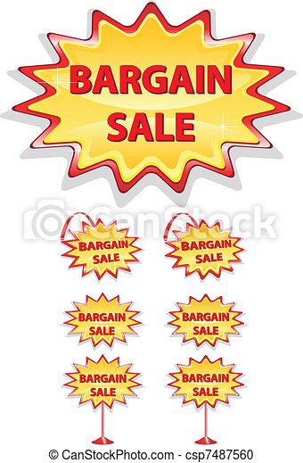 set  sale icons bargain sale - csp7487560