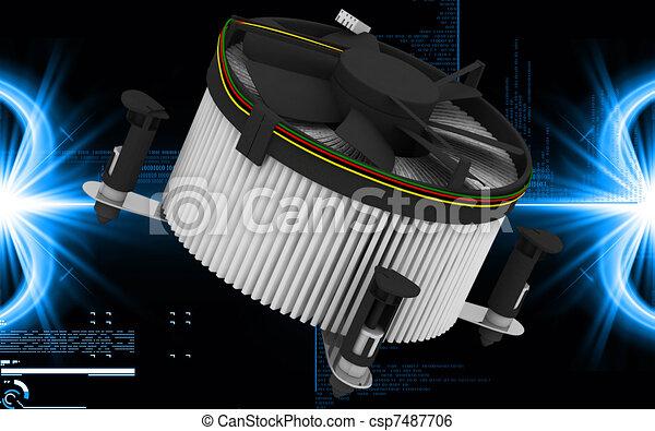 Processor fan - csp7487706