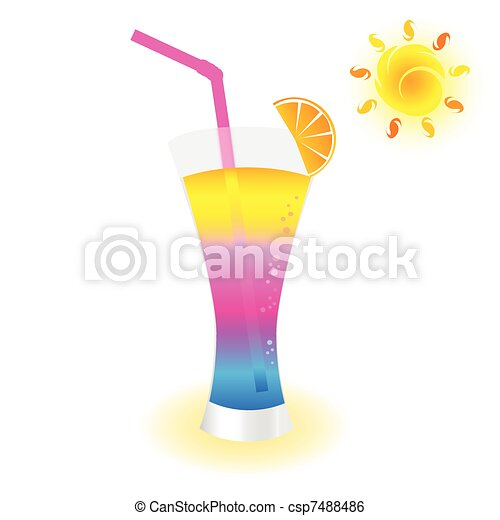 cold drink to refresh vector illustration - csp7488486