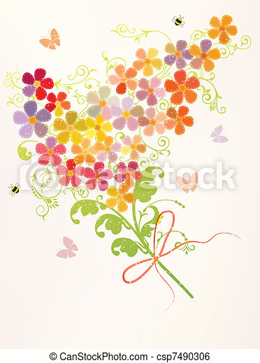 Bunch of beautiful flowers - csp7490306