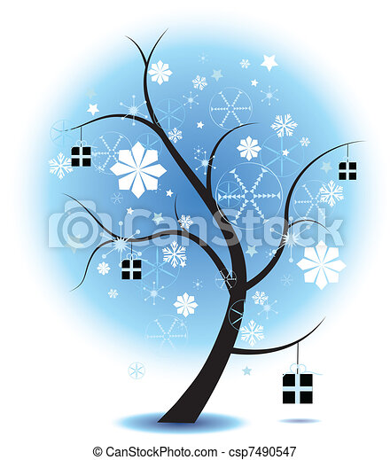 christmas Tree Stock Illustration - csp7490547
