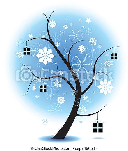 christmas Tree Stock Illustration - csp7490547