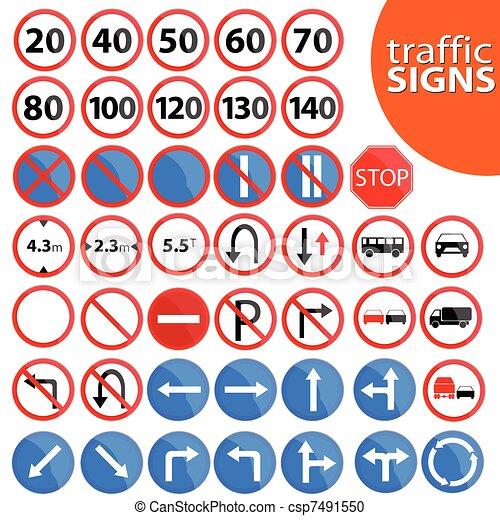 traffic sign vector illustration - csp7491550