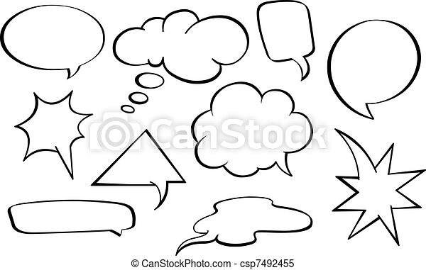 Speech bubbles set - csp7492455