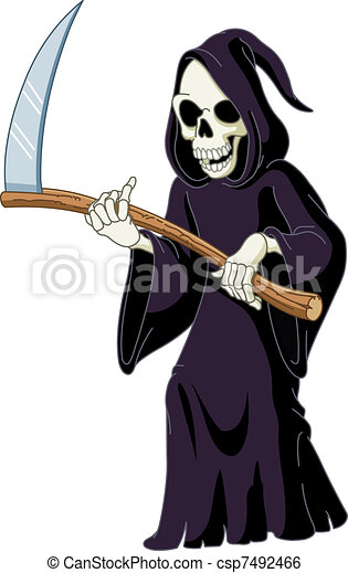 Clip Art Vector Of Grim Reaper Csp7492466 Search Clipart