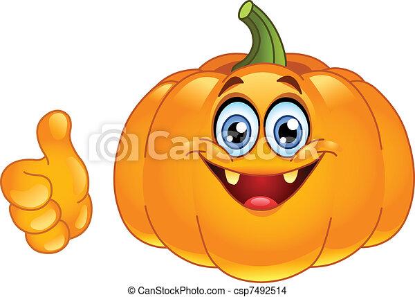 Thumb up pumpkin - csp7492514
