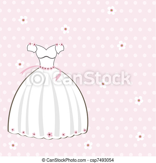Vintage wedding card on the pink dots background Save Comp