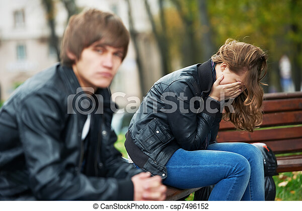 relationship difficulties of young people couple  - csp7496152