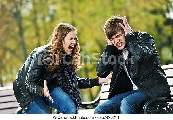 anger in young people relationship conflict  - csp7496211