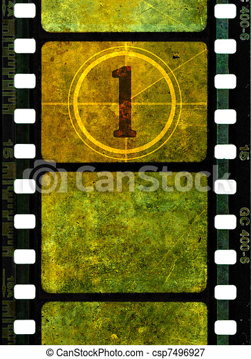 Vintage 35mm movie film reel - csp7496927