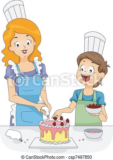 cake decoration csp7497850