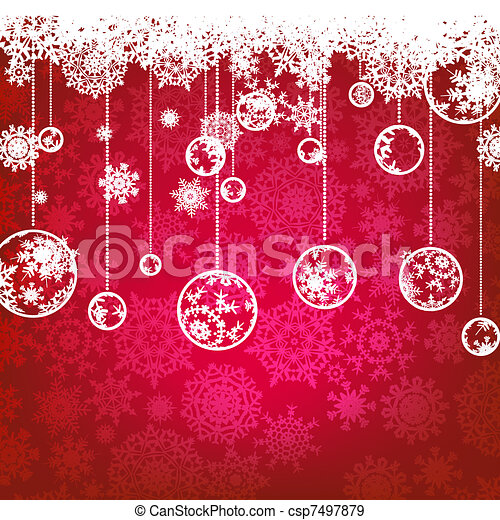 Christmas card, winter holiday. EPS 8 - csp7497879