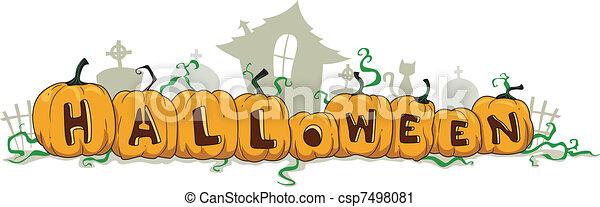 Halloween Divider - csp7498081
