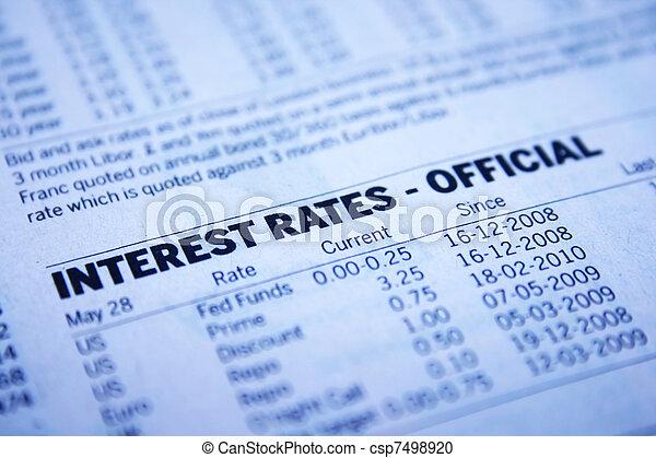 Interest rates - csp7498920