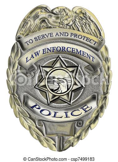 law enforcement police badge - csp7499183