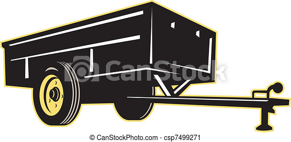 car garden utility trailer side - csp7499271