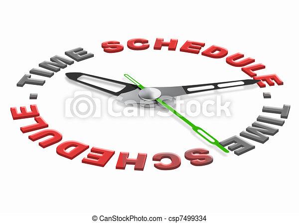 time schedule - csp7499334