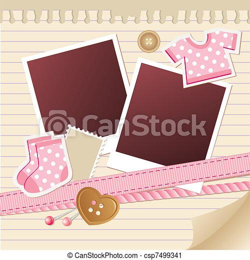 baby frame for photos - csp7499341