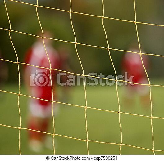 Abstract Blur Soccer Net Players - csp7500251