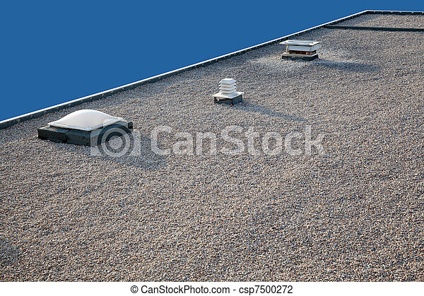 Inverted gravel roof chimney and skylight - csp7500272