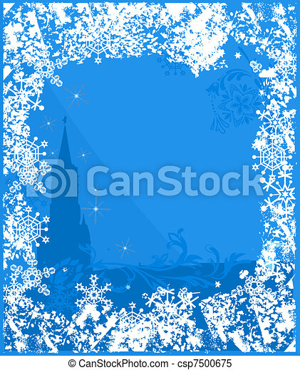 Winter Russia background vector - csp7500675