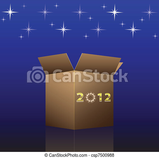 New Year magic card for 2012 - csp7500988
