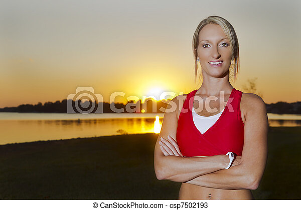 Young Female Athlete - csp7502193