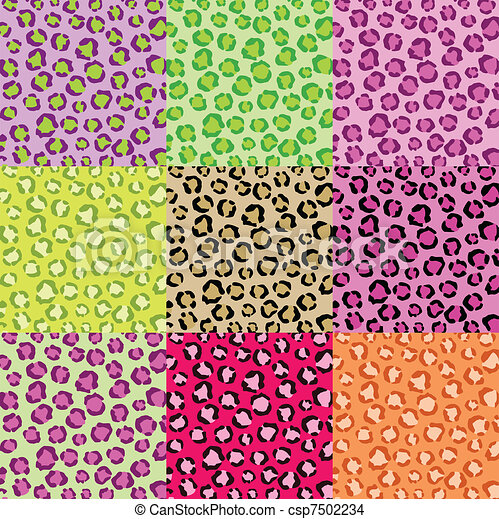 Collection Leopard Skin Textures - csp7502234