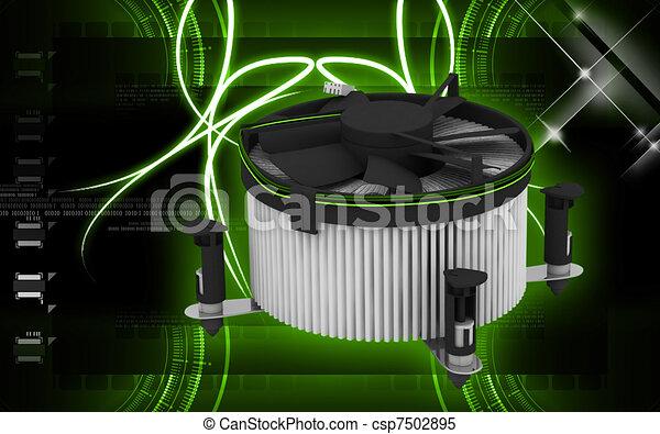 Processor fan  - csp7502895