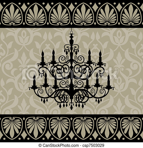 Vintage chandelier - csp7503029