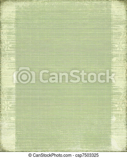 Green Vintage Bamboo Ribbed Background - csp7503325