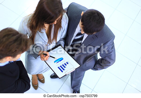 Group of business people planning work in office - csp7503799