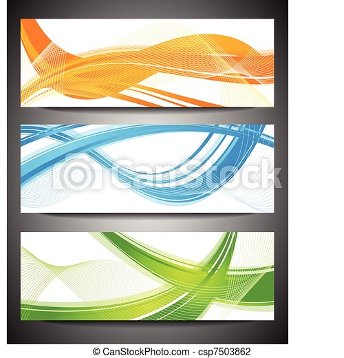 Set of vibrant banners - csp7503862