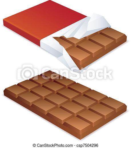Chocolate bar. - csp7504296