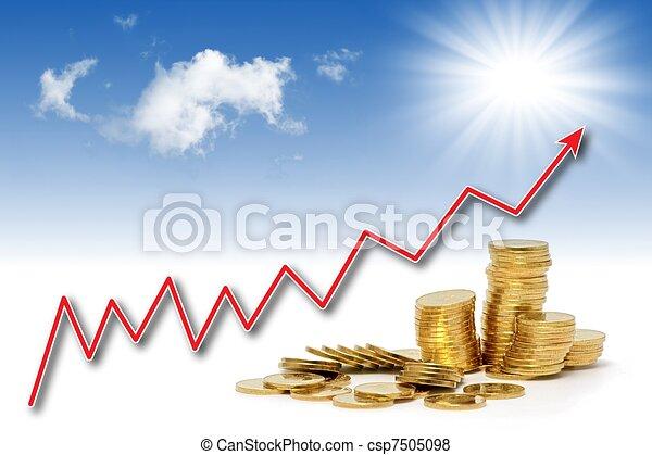Rising gold value - csp7505098