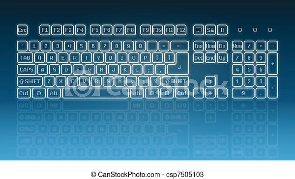 Glowing touch screen keyboard - csp7505103