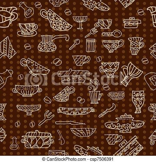 Vector clip art de cocina utensilios plano de fondo for Utensilios de cocina fondo