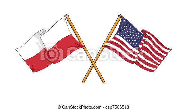 Polish - American alliance and friendship - csp7506513