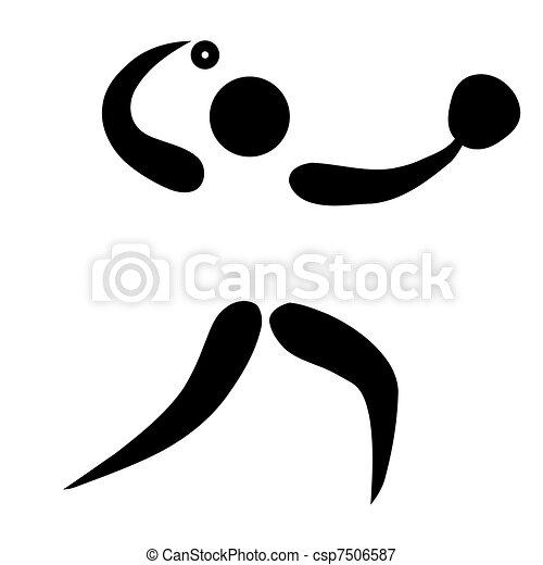 Softball sign - csp7506587
