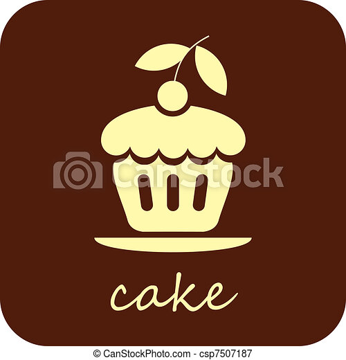 Sweet Cake - vector icon - csp7507187