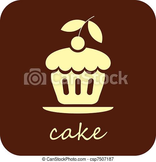 Sweet Cake - vector icon - csp7507187