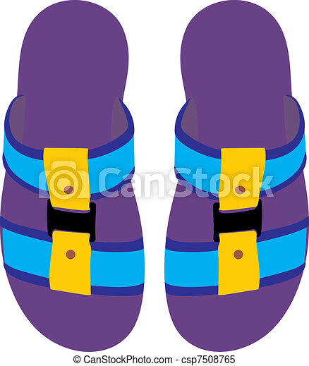 Clipart Vector of Slippers. Summer slippers csp7508765 - Search ...