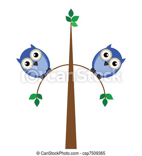 overweight owls  - csp7509365