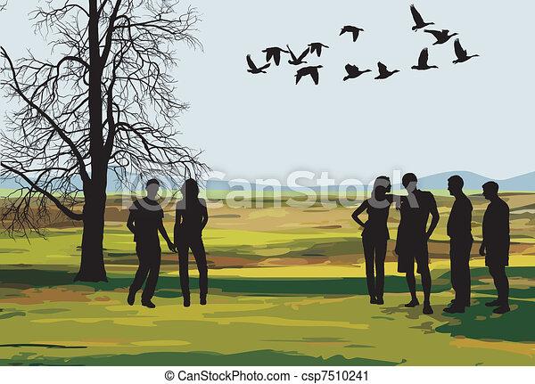 A trip in the autumn nature - csp7510241