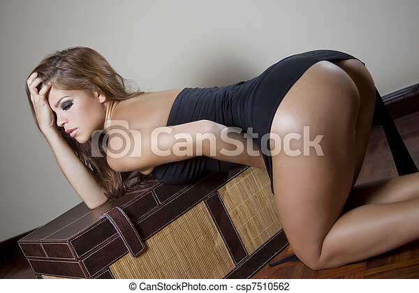 sexy fashion woman - csp7510562