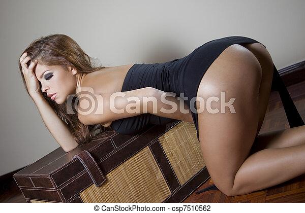 sexy fashion woman - csp7510562