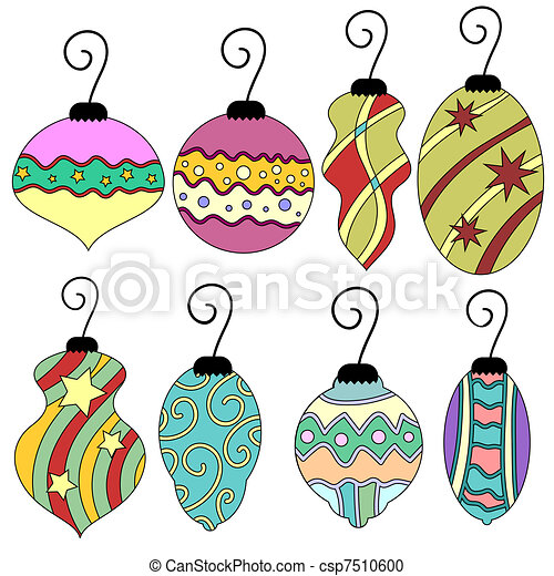 Stock Illustration of Christmas bauble collection - Colorful ...