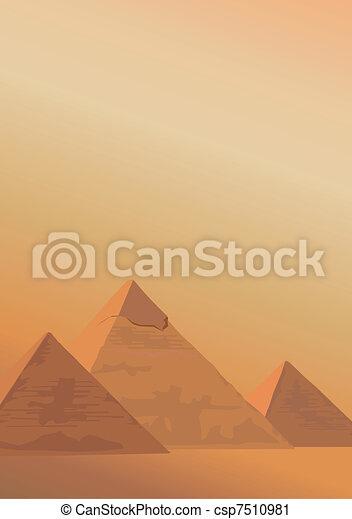 Pyramids of Giza - csp7510981